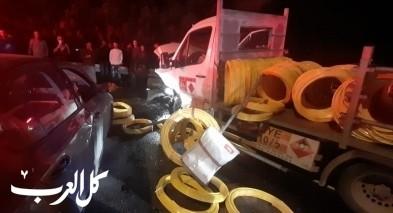 اصابة 6 اشخاص بحادث طرق قرب الضميدة