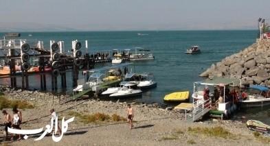 إغلاق جميع شواطئ بحيرة طبريا بسبب الإقبال الكبير
