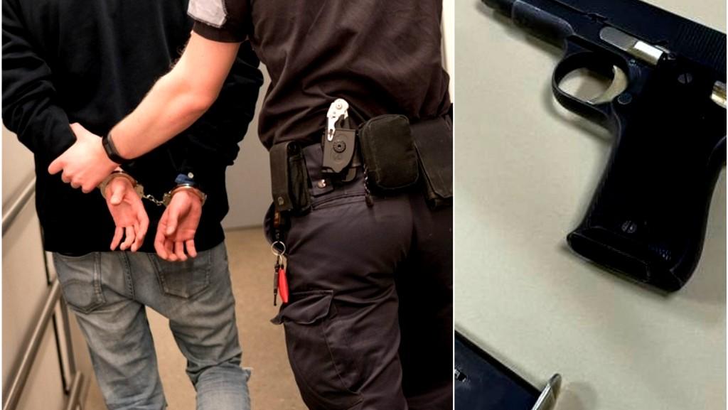 اتهام ممرض من قلنسوة بحيازة مسدس