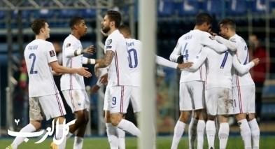 رأسية جريزمان تقود فرنسا للفوز على البوسنة