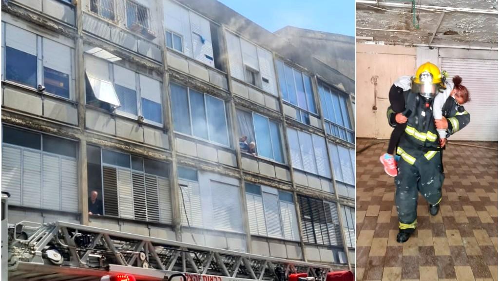 حيفا: اندلاع حريق داخل مبنى