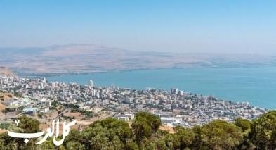 ارتفاع منسوب بحيرة طبريا بنصف سم