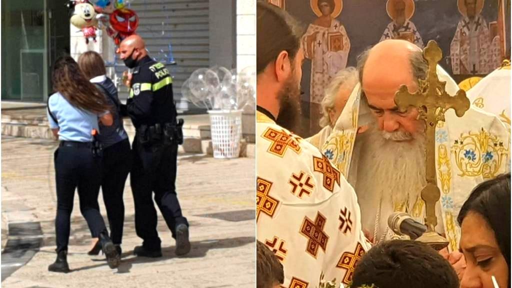 الناصرة: قداس بمشاركة ثيوفيلوس يُقابله وقفة احتجاجية