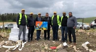 حملة تنظيفات بمقبرة اللّجون المهجّرة