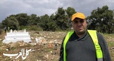 علي عدنان بركات: قمنا بتنظيف وترميم مقبرة اللّجون
