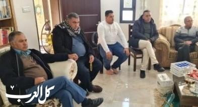 بلدية سخنين واللجنة الشعبية في زيارة تضامنية للكمانة