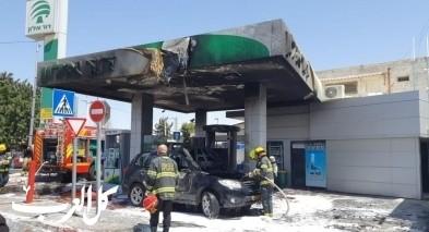 القدس: اندلاع حريق داخل محطة وقود