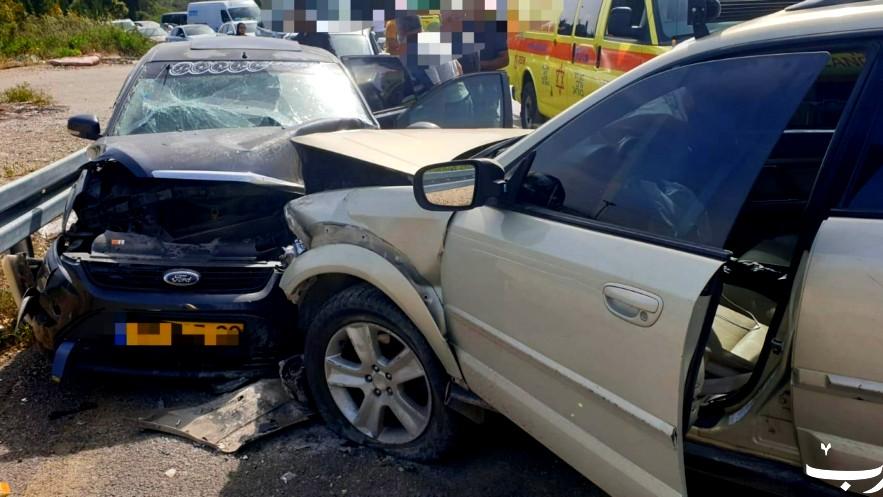 أم الريحان: 4 إصابات بحادث طرق