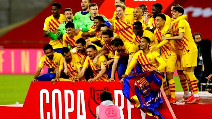 برشلونة يتوج بكأس ملك إسبانيا