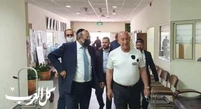 وزير الأديان يعقوب أفيتان يزور دير الأسد