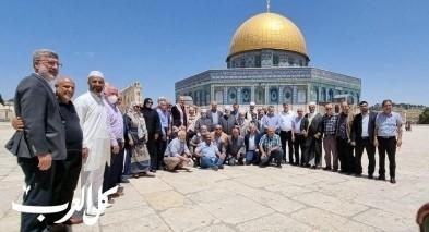 وفد من المتابعة يزور المسجد الأقصى