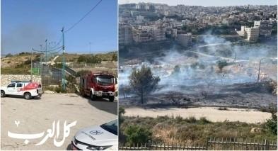 حريق كبير في جبل القفزة بالناصرة