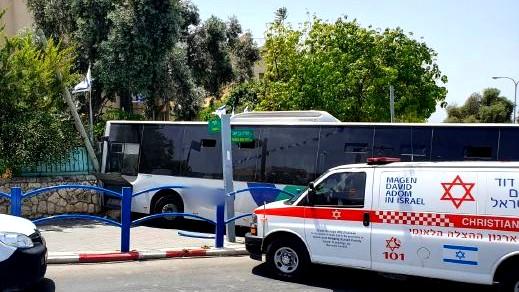 إصابات في بيت شيمش جراء اصطدام حافلة بحائط