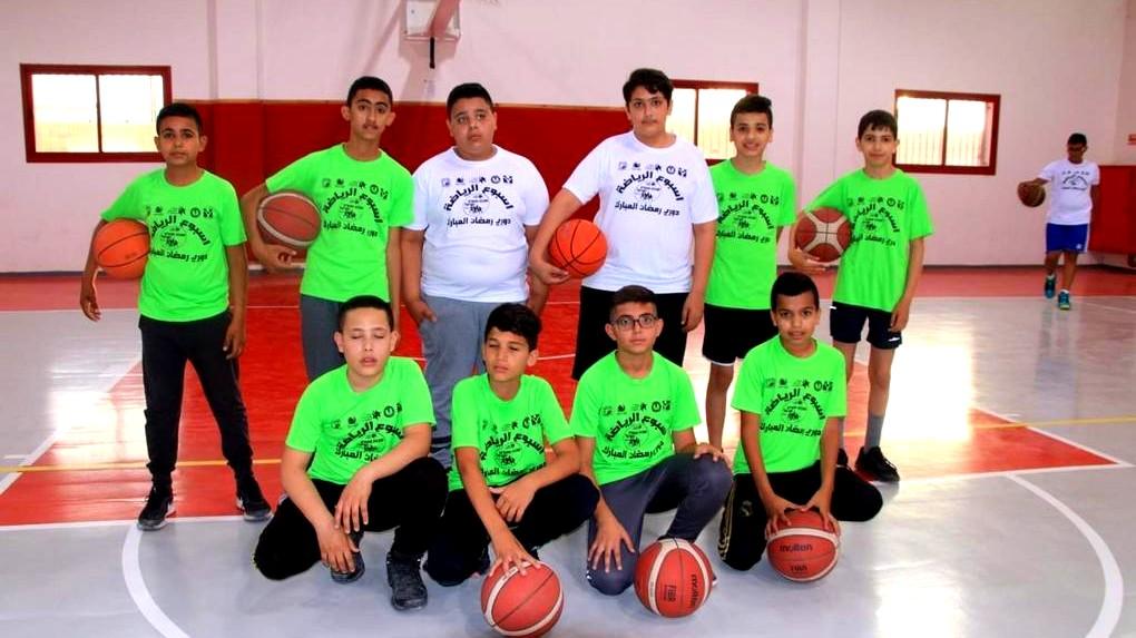 رهط| تدريبات رمضانية وإفطار لفريق كرة السلة