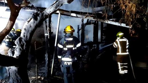 يركا: اندلاع حريق داخل تسيمر وإلحاق أضرار