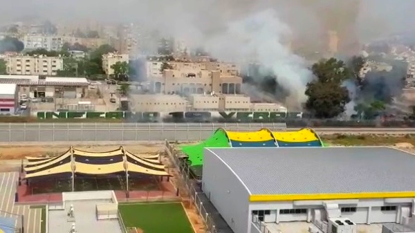 اندلاع حريق هائل في منطقة مفتوحة في الكريوت