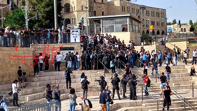 أجواء مشحونة في باب العمود - القدس