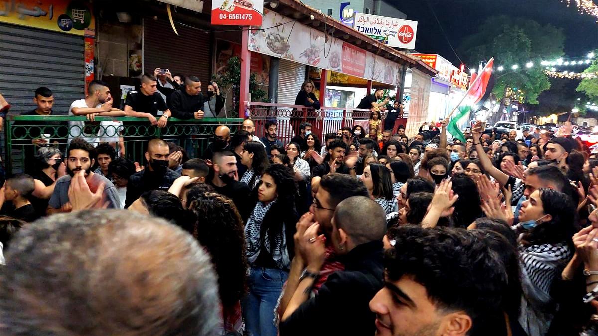 تظاهرة تضامن مع القدس وغزة في الناصرة