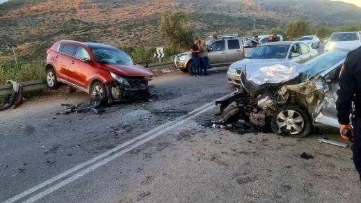 شعب: إصابة رجل وسيدة أحدهما بجراح خطيرة جراء حادث