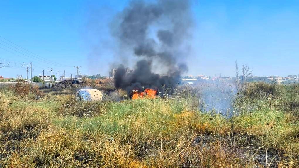 اللد| وقف حركة القطار بسبب حريق كبير