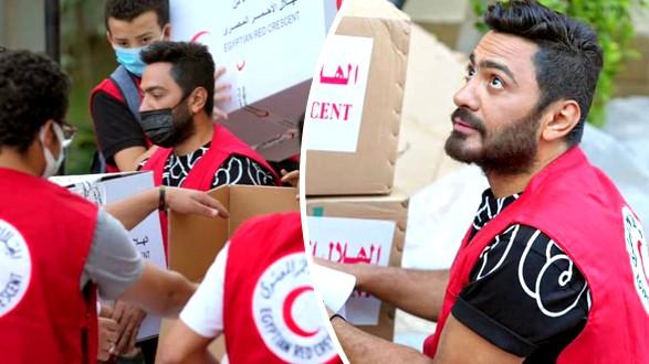 تامر حسني يساند الشعب الفلسطيني