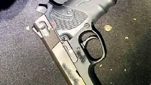 ضبط مسدس غير قانوني في أم الفحم