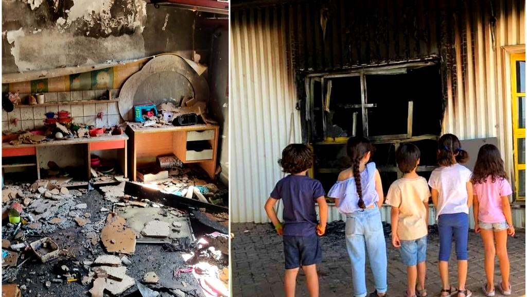 اطفال الكعبية بدون مأوى بعد احراق 3 حضانات