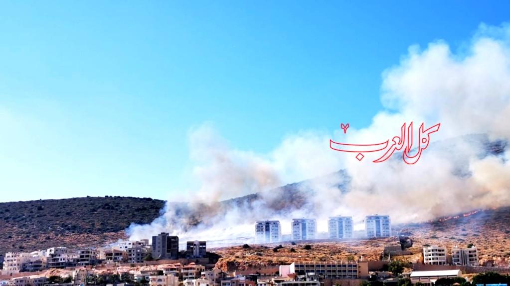 كفرمندا: اندلاع حريق هائل قرب منازل