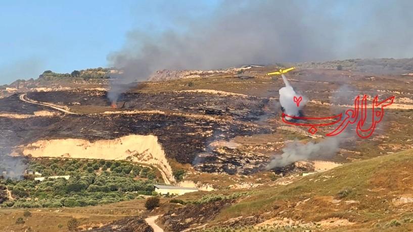 حريق في مكب نفايات قرب كفركنا