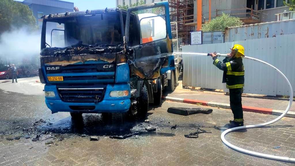 حيفا: اشتعال خلاط باطون في التخنيون
