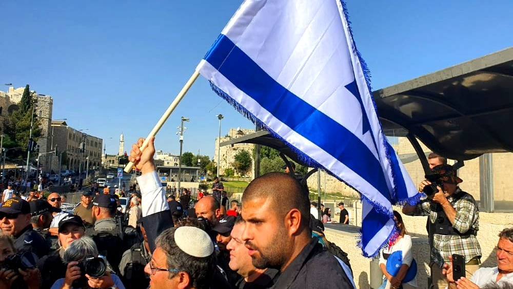 القدس  بن غفير يقود مسيرة مستوطنين
