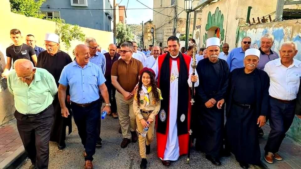 استقبال مهيب لسيادة المطران د. حسام نعوم في شفاعمرو
