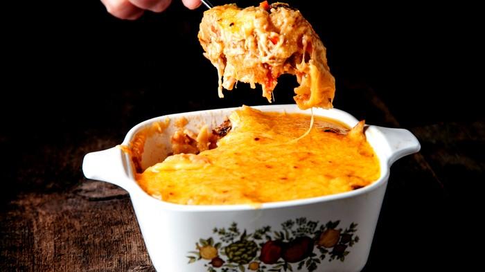 طريقة تحضير دجاج بصلصة الجبنة