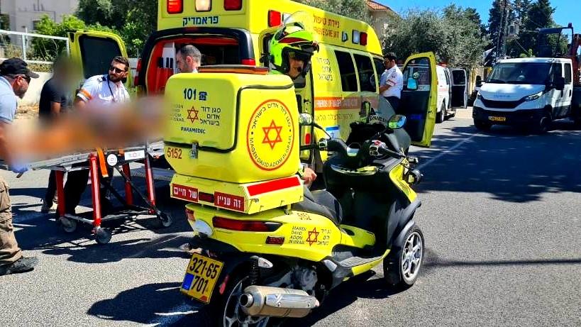 اصابة شاب في حادث دراجة نارية قرب الياكيم