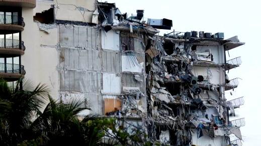 عملية إنقاذ ضخمة بعد انهيار مبنى في ميامي