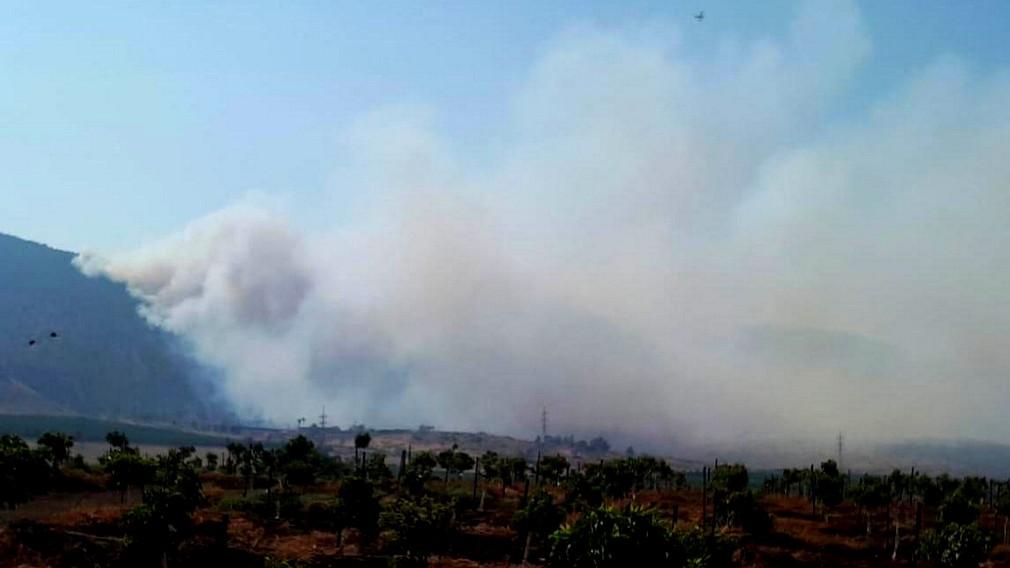 اندلاع حريق كبير في منطقة الجلبوع