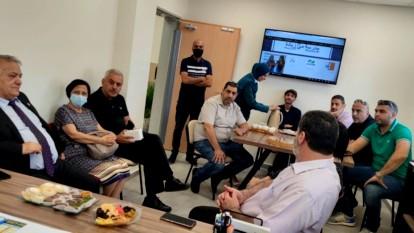 رئيس بلدية الناصرة في زيارة لمدرسة مي زيادة