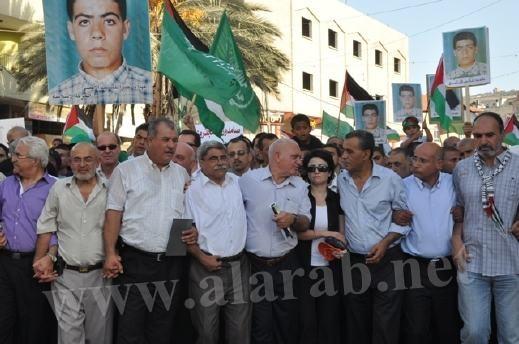الآلاف في المسيرة المركزية في كفركنا احياءً لذكرى شهداء هبة القدس والأقصى