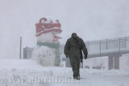 ثلج ثلج عم بتشتي الدني ثلج... الثلوج تتساقط على جبل الشيخ وفي هضبة الجولان