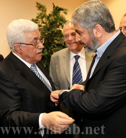 خلاف بين عباس ومشعل حول من يلقي الخطاب المركزي بإحتفال المصالحة