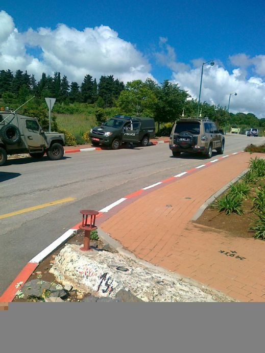 الشرطة توقف 40 متظاهراً كانوا في طريقهم الى الحدود لتحية الفلسطينيين
