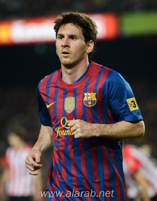 الأرجنتيني ليونيل ميسي نجم فريق برشلونة الاسباني أفضل لاعب في أوروبا في شهر مارس