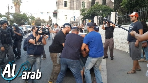 الإعتداء على حنين زعبي خلال مظاهرة حيفا ضد العدوان على غزة وإعتقال 29 شخصاً