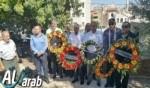 زيارة أضرحة الشهداء في سخنين ووضح أكاليل الزهور