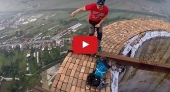 فيديو: مغامرة جنونية على إرتفاع 840 قدم