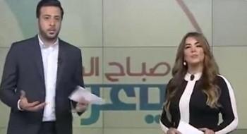 فيديو: مذيعة تتغزل بزميلها على الهواء