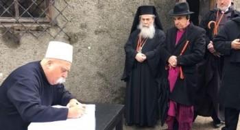 الشيخ موفق طريف ضمن وفد رؤساء الاديان