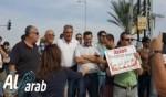 تظاهرة قرب الطيبة احتجاجا على تلوث البيئة