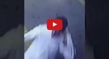 فيديو: سيدة تحبط محاولة سرقة سيارة زوجها!