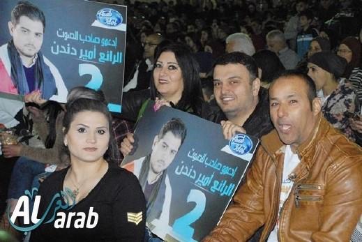 arabTV: الالاف حضروا إلى مجد الكروم لتشجيع دندن
